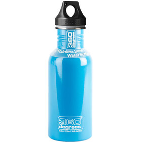 360° degrees Stainless Bidon 0.5 l, sky blue